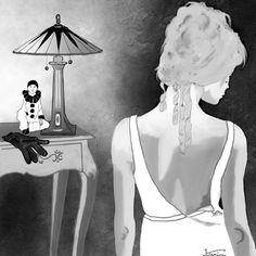 © KA's Backless, Digital, Fashion, India Ink, Drawings, Atelier, Moda, Fashion Styles, Fashion Illustrations