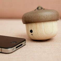 A bluetooth speaker that looks like a little acorn. Sound Speaker, Things To Buy, Stuff To Buy, Hifi Audio, Tech Gifts, Bluetooth Speakers, Dot And Bo, Online Gifts, Christmas Shopping