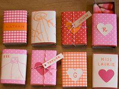 Valentines Day matchbox gifts