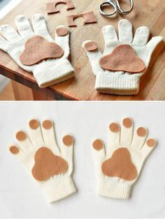 10 Totally Awesome DIY Glove Puppets ⋆ Handmade Charlotte - - Make Puppy Paws With This Super Easy No Sew Tutorial – Handmade Charlotte Dog Costumes For Kids, Diy Dog Costumes, Halloween Costumes For Kids, Halloween Crafts, Puppy Costume For Kids, Children Costumes, Panda Costume Kids, Toddler Dog Costume, Lion Costumes