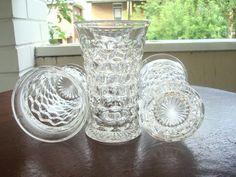 Vintage Fostoria American Clear Flat Ice Tea Glass Set