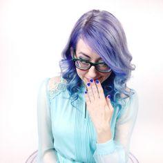 My current hair color. #saraharvey #haircolor #purplehair #bluehair