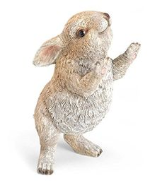 Garden statues for every style. Choose metal garden art, fountains, animal statues, fairies, dragons and more. Many garden sculptures feature solar lights. Rabbit Garden, Thing 1, Animal Statues, Garden Statues, Garden Sculpture, Outdoor Statues, Cute Bunny, Cutest Bunnies, Bunny Art