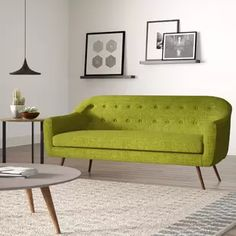 Modern + Contemporary Sofas and Couches Contemporary Sofa, Modern Sofa, All Modern, Modern Furniture, Sofa Upholstery, Modern Rustic Interiors, Sectional Sofa, Couches, Living Room Furniture