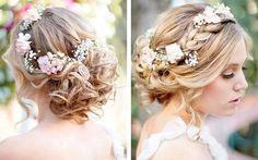 Причёска невесты в стиле рустик
