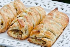 """""""Маина"""" (pronounced – """"muh-ee-nuh"""") is a Jewish celebration meat roulade that's made with puff pastry and meat. Usually it's made as one big roulade, then is sliced and served with a hot cup of bullion. I lived nowhere close to Israel as a child, but I do remember Maina being a part of our holiday..."""