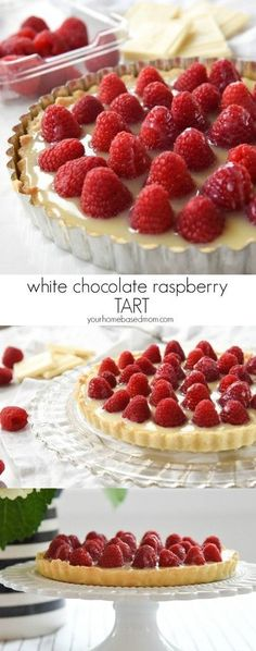 White Chocolate Raspberry Tart Recipe - White Chocolate Raspberry Tart is a perfect flavor combo.  It is easy and delicious and the perfect way to show someone you care on Valentine's Day. #whitechocolateraspberrytart #whitechocolate #raspberry #tarts #valentinesday #valentinesdaydesserts #desserts