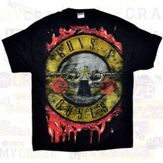 Band Merch - Page 4 of 5 - MyCraze Heavy Metal Music, Rock T Shirts, Band Merch, Graphic Tees, Guns, Roses, Mens Tops, Cotton, Black