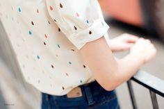Confetti rain on a shirt. LOVE