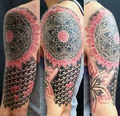 Half Sleeve Cool Geometric Shapes For Males