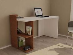 Escritorio-moderno-mesa-pc-notebook-mueble-oficina-minimalis - $ 1,500.00