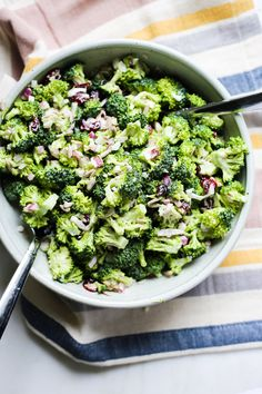 Whole30 Broccoli Salad, perfect for summer entertaining and BBQ