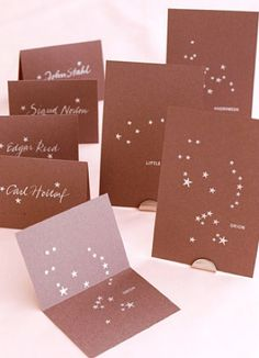 constellation rubber stamp diy escort cards table numbers