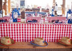 Savvy Styled Sessions & Events: Half Birthday at the Ranch! children table/favors @Beth Obermeyer - Lizzie Bee Photography