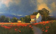 Summer Afternoon Light by Romona Youngquist Oil ~ 22 x 36
