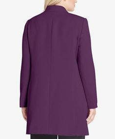 Tahari Asl Plus Size Topper Jacket - Purple 18W