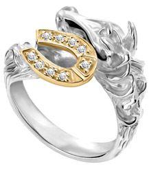 Freaking awesome!  Horse and Horseshoe ring!