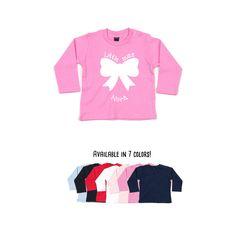 Baby girl shirt, little miss shirt, longsleeve shirt, personalized shirt, name shirt, baby birthday shirt, customizable shirt, bow shirt by KMLeonBE on Etsy