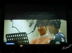 Are they recording a new song?^^ (Cr: FuriiT)