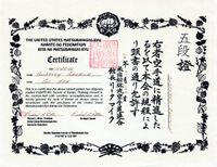 Aikido Black Belt Certificate Template #free to customize