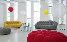 Cuddly, Bubbly, Fluffy Bubble Sofa for a Comfy Seating - Country Home Decor Rustic Sofa Design, Canapé Design, Design Trends, Contemporary Interior Design, Contemporary Furniture, Modern Design, Home Furniture, Furniture Design, Italian Furniture