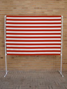 Red and White Photobooth Backdrop