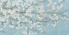April Breeze I Teal - Fotobehang & Behang - Photowall