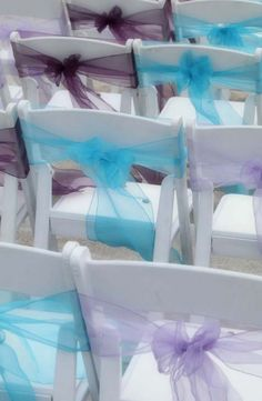 Turquoise, plum and lavender sashes