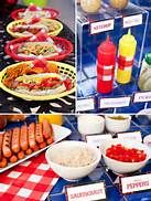 Cute Hot Dog Display