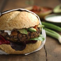 These healthy black bean burgers will satisfy your craving for a big juicy hamburger - without the meat.