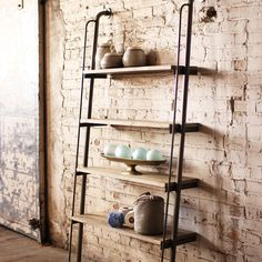 ladder-style shelves