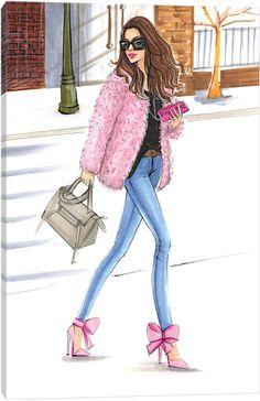 New Fashion Ilustration Art Print Ideas Pink Fashion, New Fashion, Trendy Fashion, Fashion Dresses, Fashion Illustration Sketches, Fashion Design Sketches, Fashion Drawings, Illustration Art, Fashion Wall Art