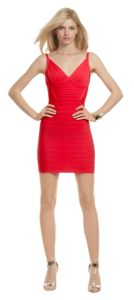 Gorgeous red Herve Leger Totally Worth It Dress that's oh-so perfect for crush!  Check out more ideas for crush on the blog...