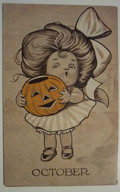 Vintage Halloween. #illustration #cute #pumpkin