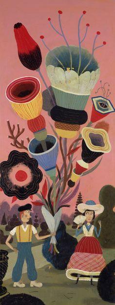 Flower bouquet By Bjorn Rune Lie Illustration Artists, Children's Book Illustration, Embroidery Motifs, Z Arts, Plant Art, Art For Art Sake, Botanical Prints, Doodle Art, Illustrations Posters