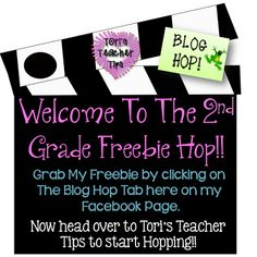 FB hop is HERE!!! SO many great freebies and resources for 2nd grade teachers!!! Excellent connection to tons of 2nd grade appropriate blogs, too!