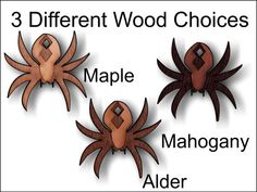 Decorative wooden spider charm 1.5 inches tall by SandHonEtsy, $9.87