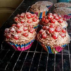 redcurrant chocolate cupcakes, gluten free
