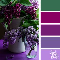 Explore the colors of nature with these 25 color palettes inspired by flowers, bouquets and gardens. Floral color inspiration for wedding color palettes or flower arrangements and more. Purple Color Combinations, Beautiful Color Combinations, Colour Schemes, Colour Palettes, Home Decor Colors, Bedroom Colors, Fake Flowers, Color Pallets, Beautiful Landscapes