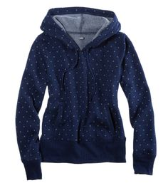Polka dot hoodie. so sweeeeeeeeeet