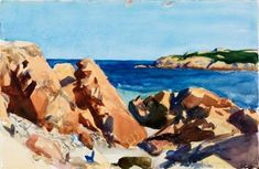 Edward Hopper - Dories in a Cove (Maine) (1914)