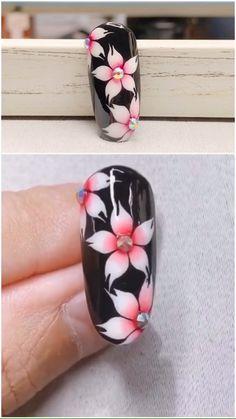 Simple nails art design video Tutorials Compilation Part 58 - Summer nails Nail Art Hacks, Nail Art Diy, Diy Nails, Cute Nails, Skull Nail Art, Pretty Nails, Nail Art Designs Videos, Nail Art Videos, Simple Nail Art Designs