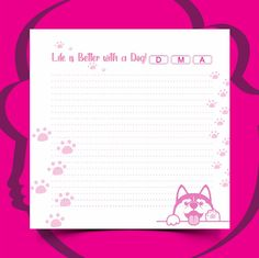 Notebook, Dogs, Life, Day Planners, Pet Dogs, Doggies, The Notebook, Exercise Book, Notebooks