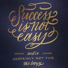 """Success is not easy"" font"