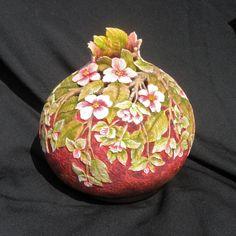 Apple Blossom tallado de calabaza