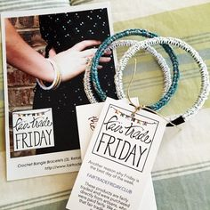 Beautiful crochet bangle bracelets from #fairtradefriday @mercyhousekenya - so excited to wear these! #teammercyhouse
