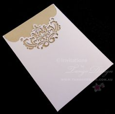 Laser cut Pocket Wedding Invitations