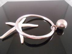 Sterling Bangle Ball Bracelet Mexico by Libbysmomsvintage on Etsy