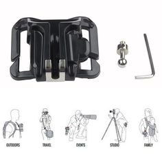 Exyuan Camera Mount Shoot Belt Waist Spider Holster Buckle For Sony A5000 A5100 ILCE5000 A6000 A7 A7R A77 ILCE5100 ILCE-7II