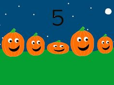 Made a 5 Little Pumpkins learning video! I'll add music to it soon!